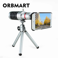 ORBMART 16X Zoom Optyczny Obiektywu Teleskopu Aparatu Z Mini Statyw Do iPhone 5 5S 6 6 s 6 6 s Oraz Telefon komórkowy Soczewki