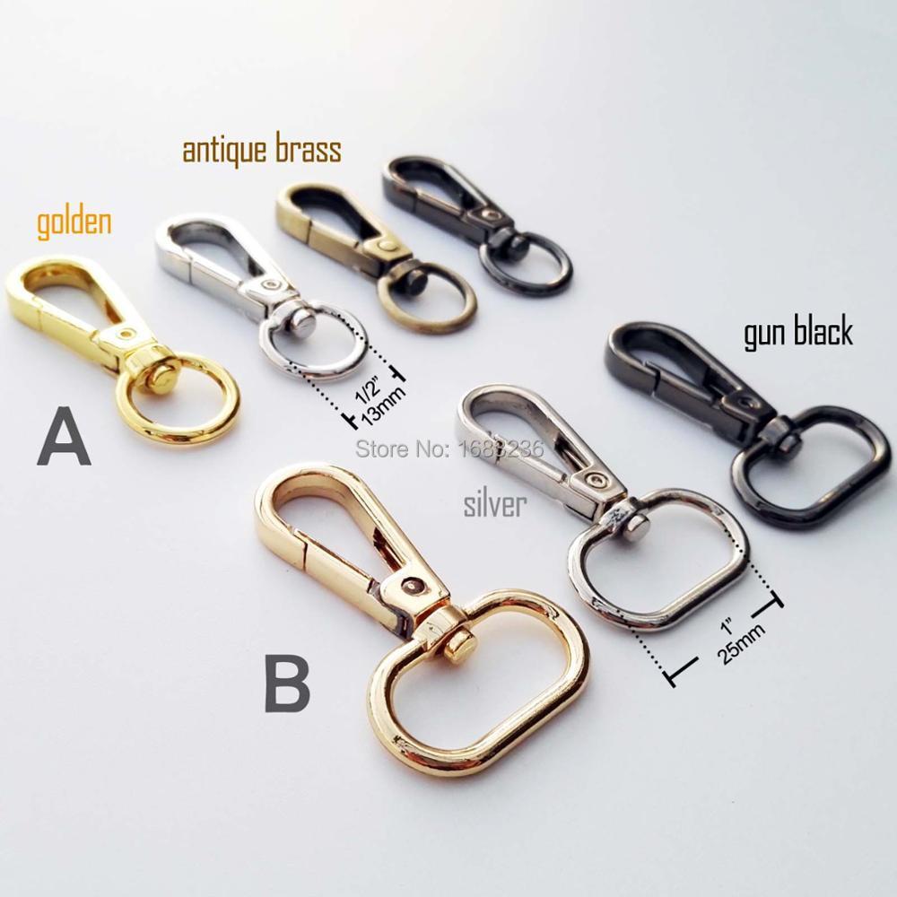 Buckles & Hooks Genteel Swivel Lobster Leather Bag Handbag Purse Shoulder Strap Belt Clasp Clip Trigger Buckle Keychain Key Ring Dog Chain Collar Snap Limpid In Sight Arts,crafts & Sewing