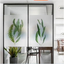 Nordic ins Ginkgo biloba plant frosted glass stickers Bathrooms balcony door windows electrostatic transparent film opaque все цены