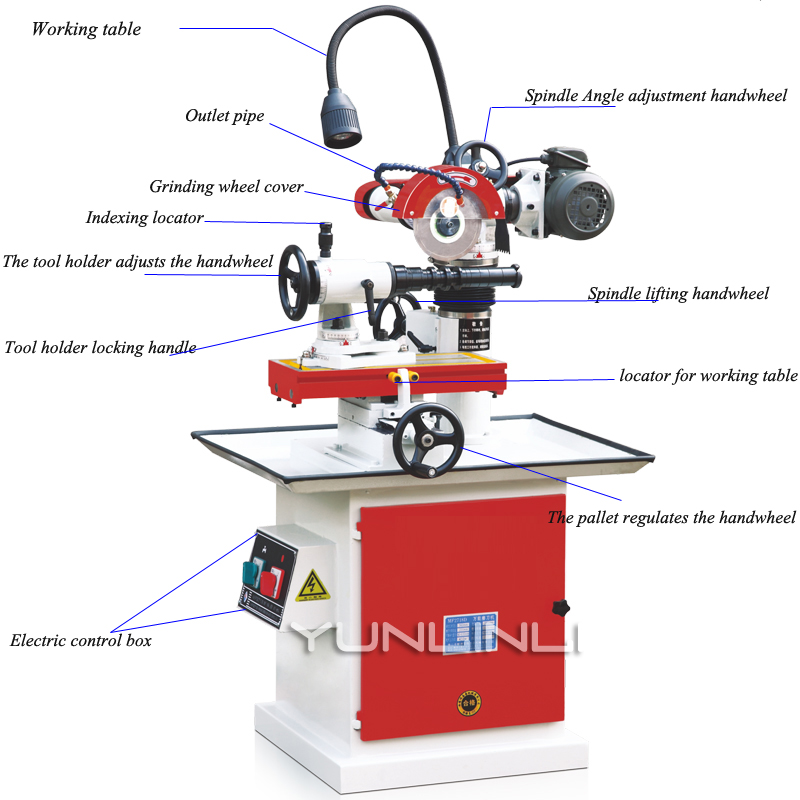 380V Universal Grinder Drill Sharpener End Mill Cutting Machine Twist Drill Cutter Planer Tool MF2718D 2016 one soap mold loaf cutter adjustable wood and beveler planer cutting tool set