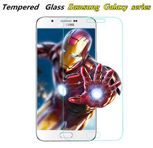 Tempered Glass For Samsung Galaxy J3 A5 J5 2016 s5 s4 mini Note 3 A5 J5 J3 2017 Screen protect film case cover display 9H on(China)