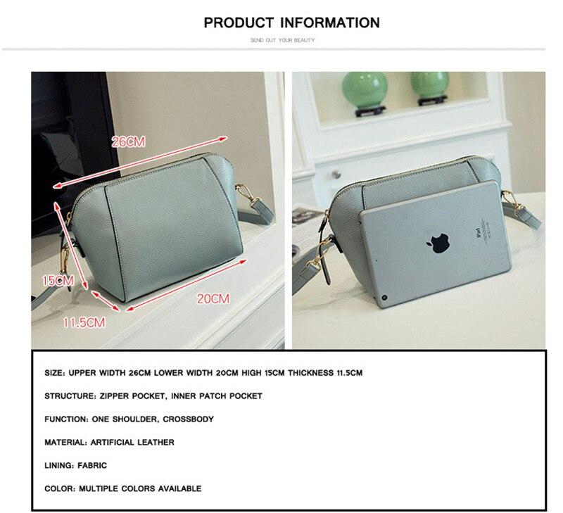 Trendy Japanese and Korean simple shell bag Fashion matches everything female bag small bag single shoulder Messenger bag 35