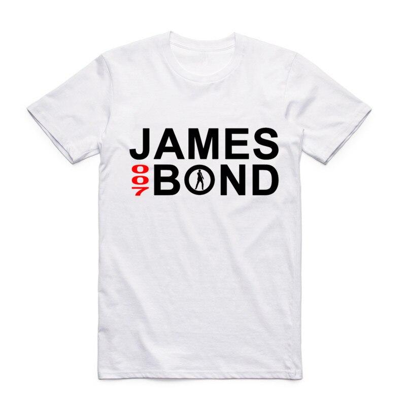 Moda para hombres Película de cine Película James Bond 007 Camiseta - Ropa de hombre - foto 4