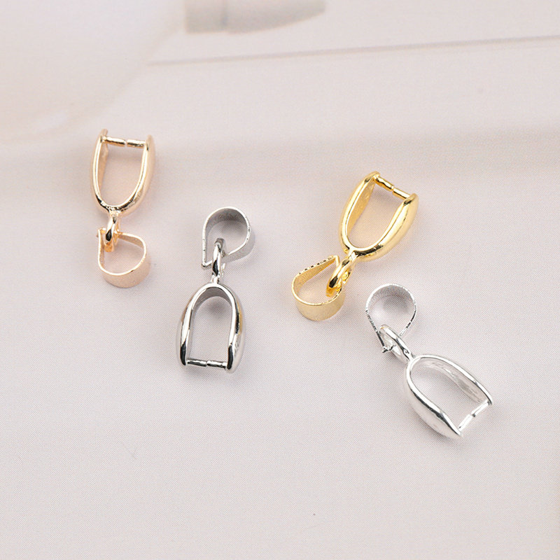10pcs 4x15mm Copper Connectors Pendants Clasps Hooks Clips Bails Copper Seeds Buckle For DIY Handmade Jewelry Making 4 Colors