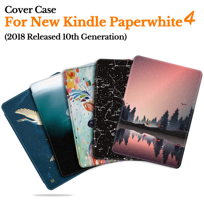 BOZHUORUI Smart Cover Case For Amazon New Kindle Paperwhite 4 eReader (10th Generation 2018 Released) Magnetic Ultra-thin Cover(China)