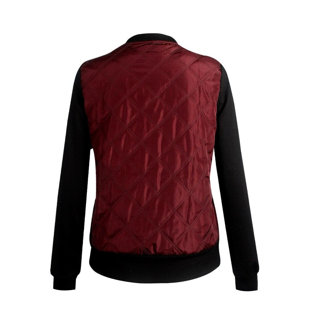 HTB1twTtldcnBKNjSZR0q6AFqFXaO Plus Size Autumn Winter Fashion Slim Women's Jacket Zipper Cardigan Splice Bomber Jackets 2019 Long Sleeve Bodycon Coats Female