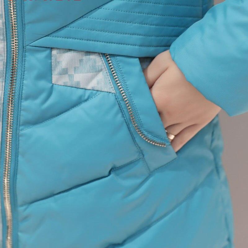 Winter Women Down Coats With Raccoon Fur Hood With 90% Duck Down Jacket Parka Female Long Winter Puffer Jacket Chaqueta mujer 4