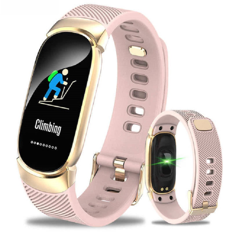 Bluetooth Smart Bracelet Band Fashion Lady Smart Watch Women  Heart Rate Monitor Fitness Tracker Smartwatch Connect IOS Android
