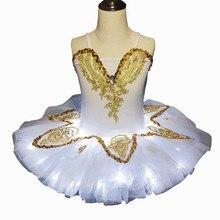 2019 nova luz led tutu crianças fluffy fluorescente night club roupas traje de dança vestido de balé do lago cisne branco para as meninas