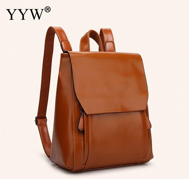 YYW Fashion Women Backpacks PU Leather Shoulder Strap Adjustable School Bags For Teenagers Girls Top-handle Backpack 5 Colors fashion women backpack pu leather mochila escolar school bags for teenagers girls top handle backpacks leisure bag feminine
