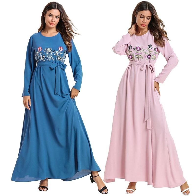 2019 Kaftan Abaya Dubai Turkey Hijab Muslim Dress Abayas For Women Islam Jilbab Robe Caftan Turkish Elbise Islamic Clothing