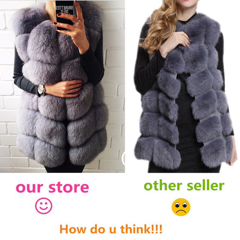 FURSARCAR Real Natural Fur Vest Kvinder Fox Fur Coat 2018 Ny Luksus - Dametøj - Foto 6