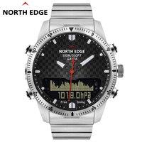 Северная край Для мужчин Dive спортивные цифровые часы Роскошный Полный Сталь Военная альтиметр компас Водонепроницаемый 100 м армии Бизнес Д