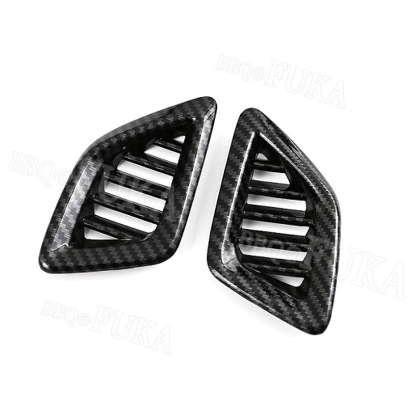 2pcs Carbon Fiber Color Car Dashboard Upper AIR Condition Vent Trim Fit for <font><b>Honda</b></font> <font><b>Accord</b></font> <font><b>2018</b></font> Car Interior <font><b>Accessories</b></font> Styling image