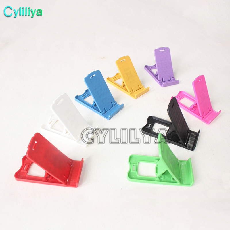 200pcs High Quality Colorful Universal mobile Cell phone holder Mini Desk Plastic Stand Holder For iPhone