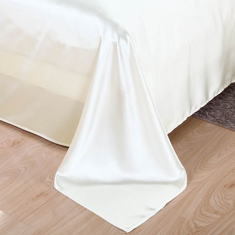 Image 5 - 100% Pure Satin Silk Bedding Set Home Textile King Queen Size Bed Set Bedclothes Duvet Cover Flat Sheet Pillowcases Wholesale-in Duvet Cover from Home & Garden