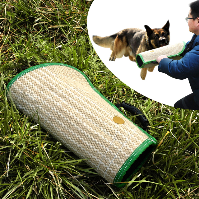 Dog Training Bite Tugs Pet Bite Pillow Jute Dog Bite Sleeve for Training Police K9  Young Malinois German Shepherd Rottweiler