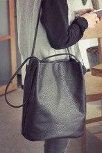 2015 neue Mode frauen handtaschen große hohe qualität pu-leder frauen umhängetasche weiblichen Eimer bag taschen freies verschiffen