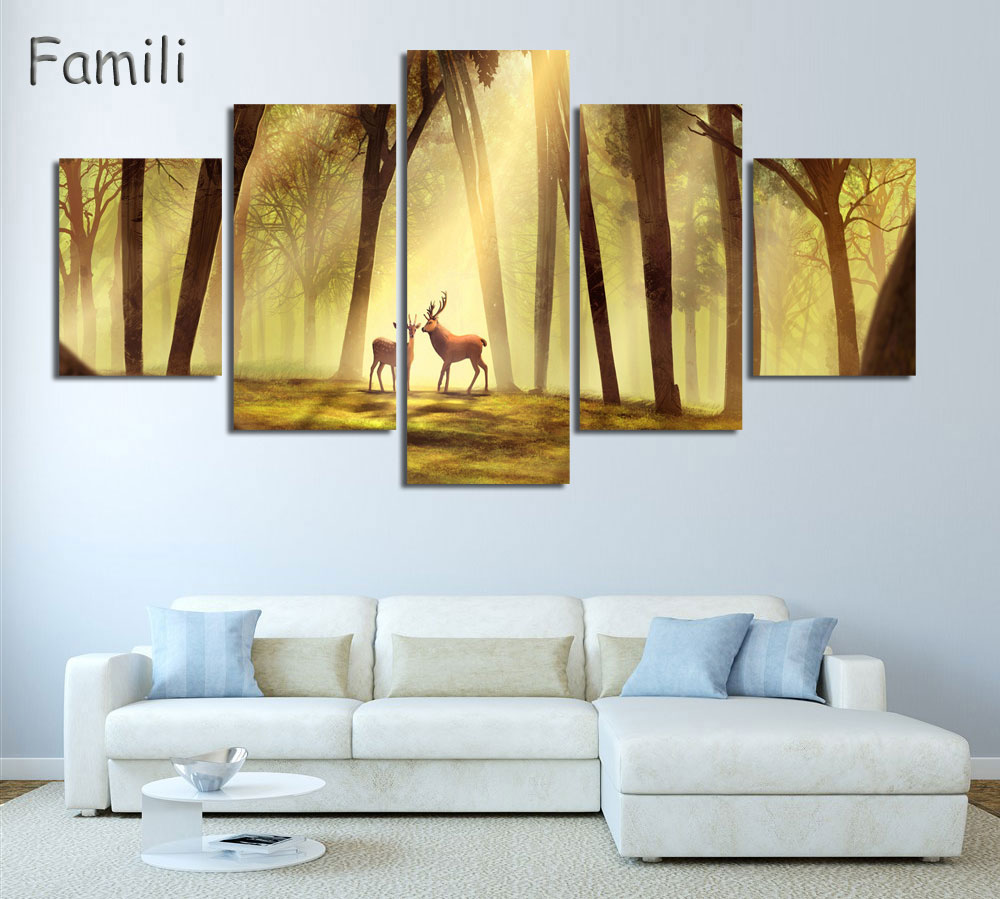Aliexpress.com : Buy 5pcs large poster HD printed oil painting ...