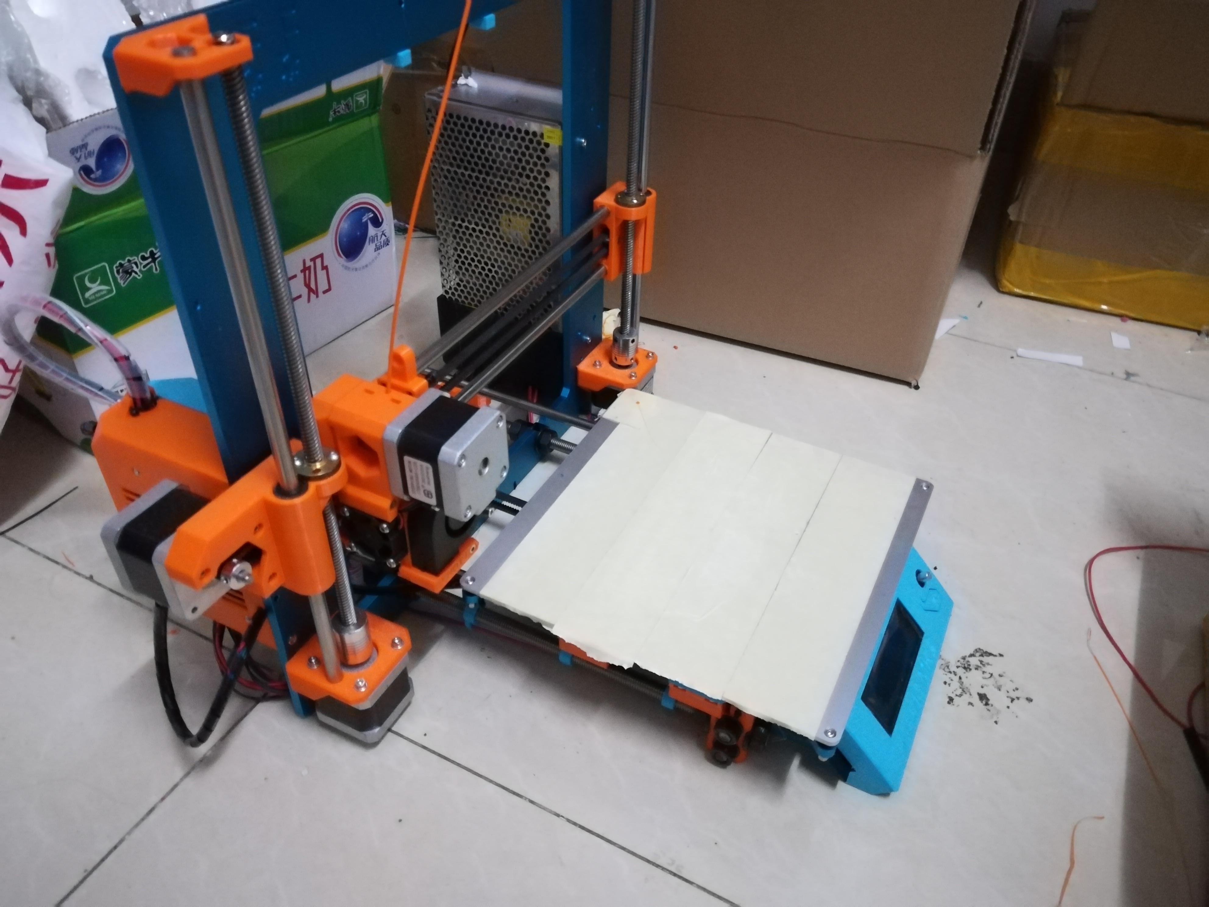 Funssor Reprap Prusa i3 MK2S Klon aluminium rahmen fall heizung bett ...