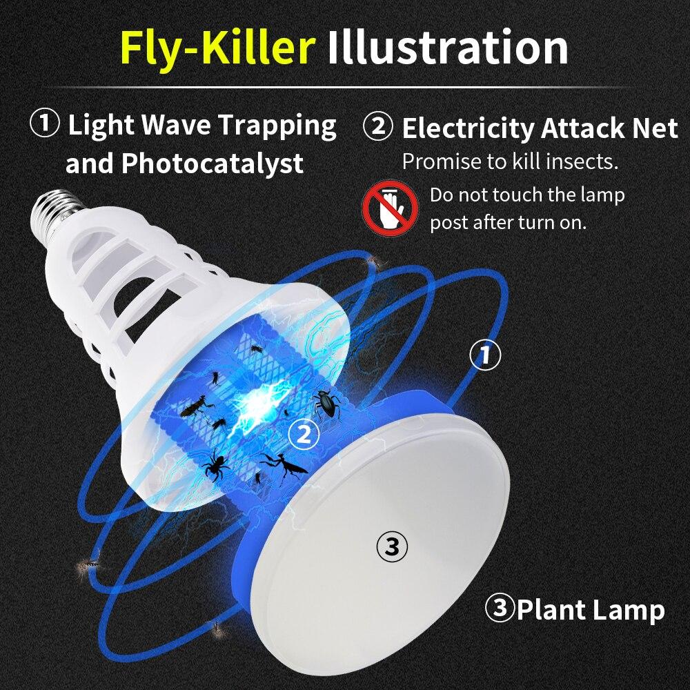 Full Spectrum Led Grow Light E27 220V Mosquito Killer Lamp USB 5V Insect Killer Led Bulb 110V Led Plante Indoor Garden Grow Tent in LED Grow Lights from Lights Lighting