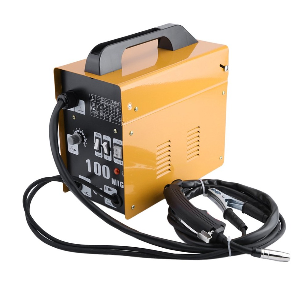 цена на (Ship from DE)MIG100 Gas-Shielded Welding Machine Professional Electric Welding Machine Durable MIG Weldering Equipment EU Plug