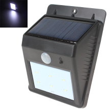 Solar Power 6 LED PIR Motion Sensor Light Outdoor Garden Wall Lamp Waterproof Garden Lawn Lamps Landscape Yard Light цены
