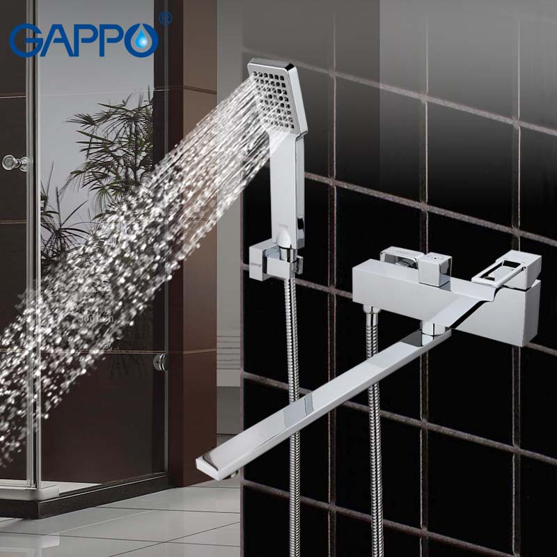 GAPPO Bath tub faucet chrome bathroom sink shower faucets tap brass mixer torneira bathtub sink tap shower bath mixers torneira free shipping polished chrome finish new wall mounted waterfall bathroom bathtub handheld shower tap mixer faucet yt 5333
