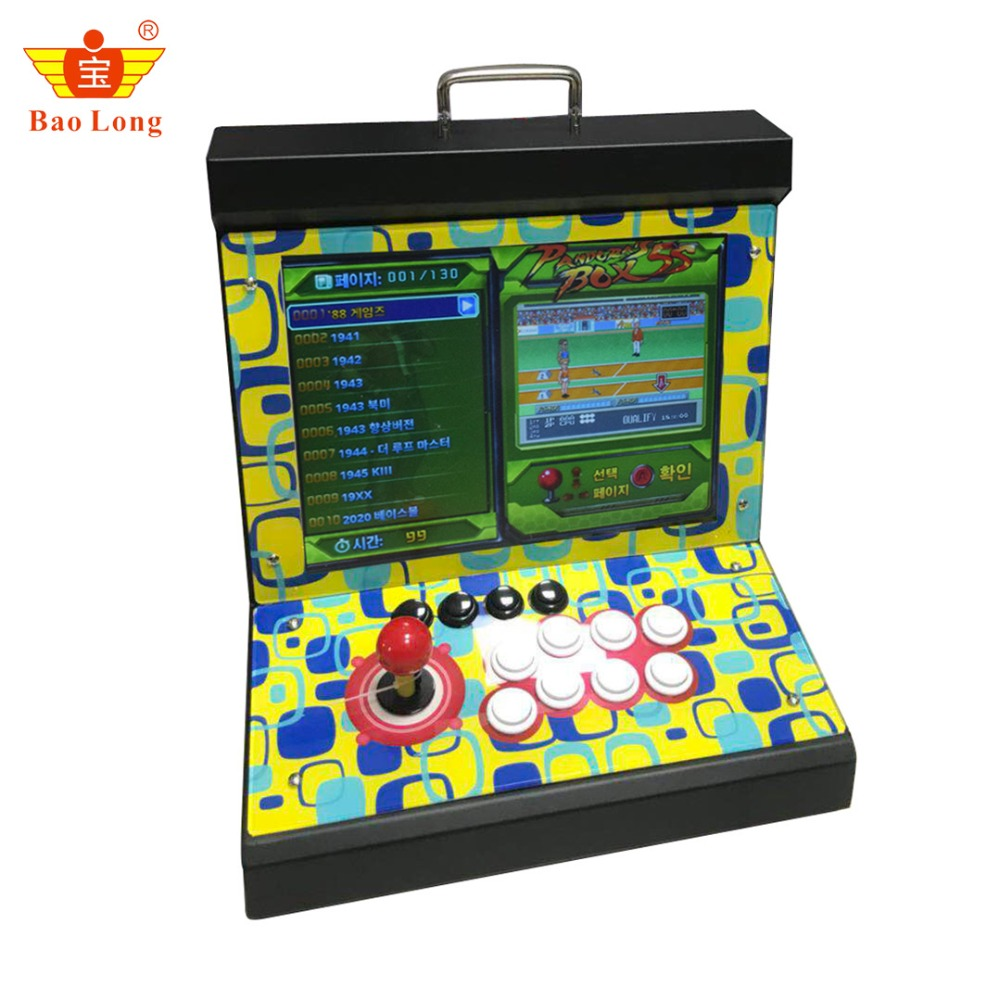 лучшая цена Arcade Mini bartop game machine Arcade Video Game Console 999/1299/1388 in 1 Box 5s/6s for 1 Player 15 inch screen Pandora box