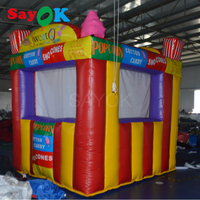 3x2.5x3m Portable Inflatable Sales Kiosk Colorful Tent Sale Booth Rainbow for Sale Food/Ticket Advertising Decoration