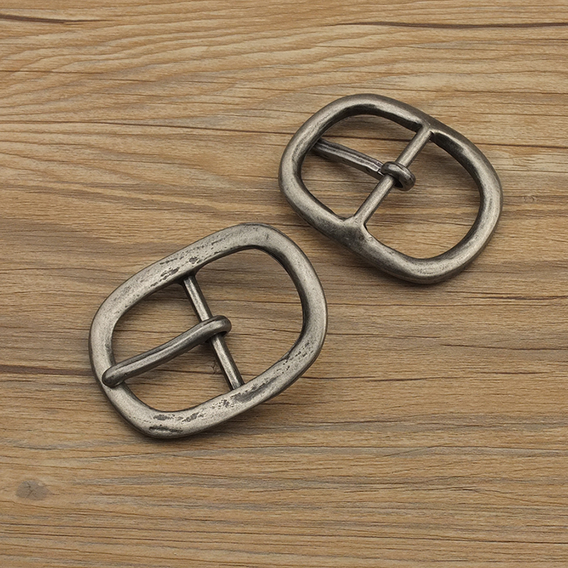 Pack of 8 3/4 Double Bar Brass Plated Buckle Halter B25