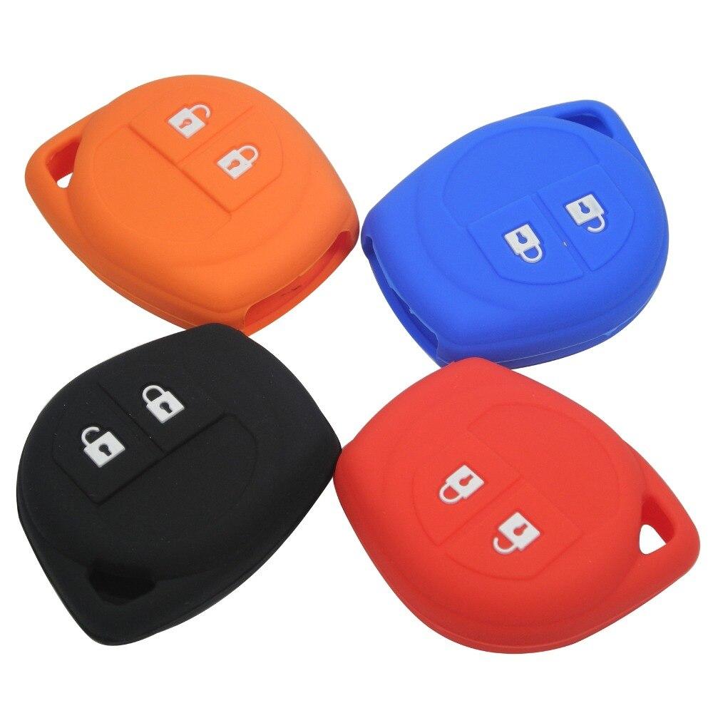 Jingyuqin New 2 Buttons Remote Silicone Rubber Car Key Case Cover For Suzuki SX4 Swift Vitara Holder Case
