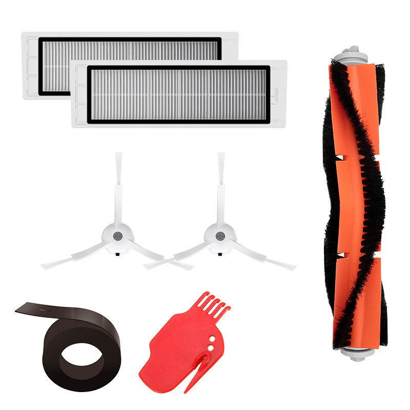 Spare Parts Kit For Xiaomi MI Robot Vacuum Cleaner HEPA Filter Roller Brush Cleaning Mops Tool Side Brushes Magnetic Strip Wall