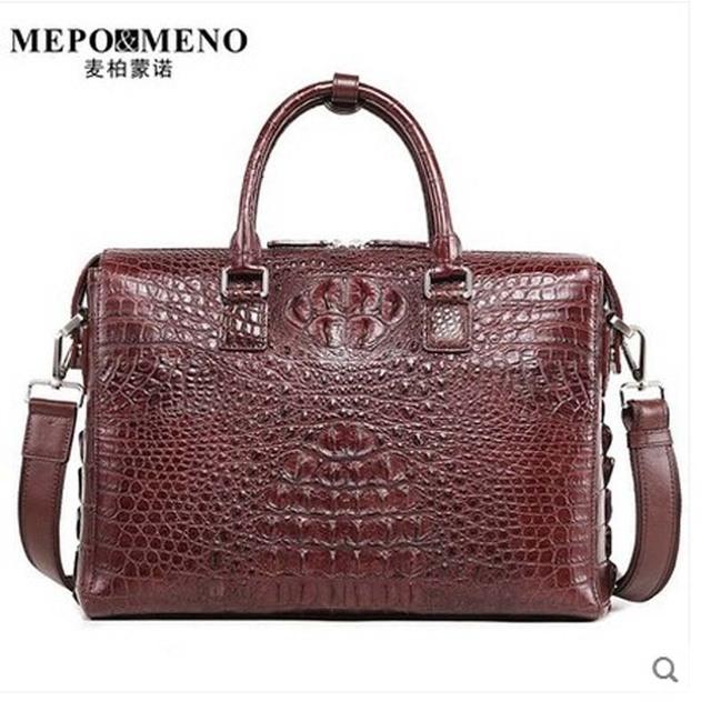Maibomengnuo Real Crocodile Thailand Men S Handbags Stylish Simple Business Briefcase Laptop Bag