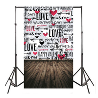 1pc 5x7ft Thin Vinyl Valentine S Day Photography Background Love Photo Studio Backdrops Computer Printed Mayitr
