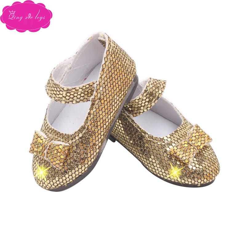 Doll shoes fashionable shiny pointed shoes 2 color dress shoes fit 16 inch Girl dolls and 14 5 inch Girl doll accessories r28 in Dolls Accessories from Toys Hobbies
