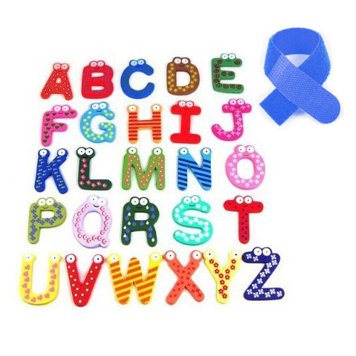 Colorful Funky Fun Magnetic Alphabet Wooden Fridge