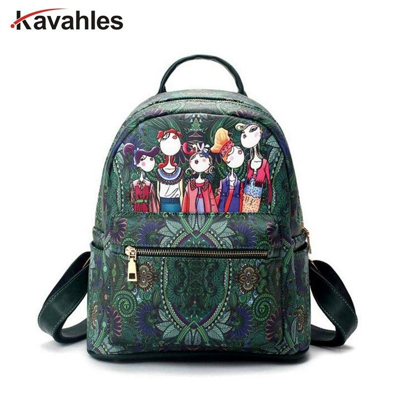 New Women Backpack Female PU Leather Women's Backpacks Girls BagsLady Hot School Street Bags  PP-747