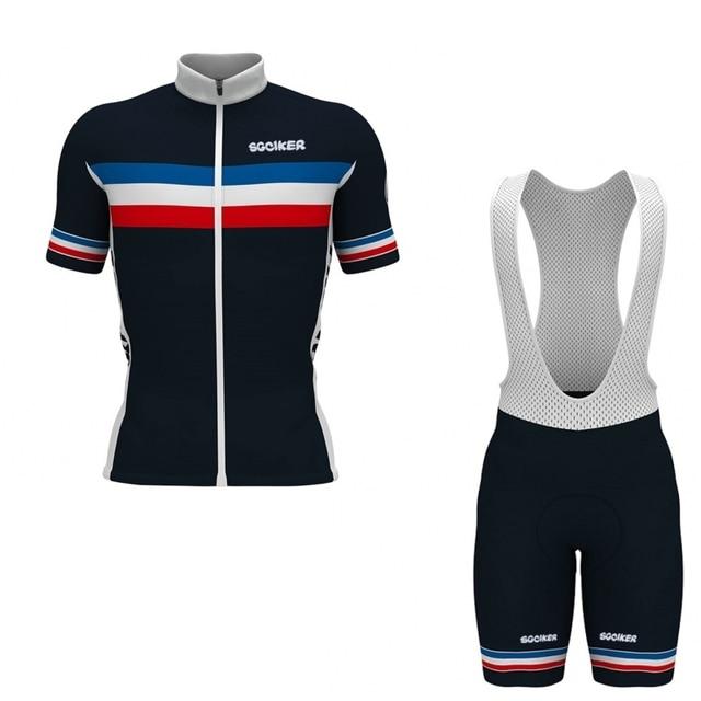 SGCIKER 3 pockets team FRANCE summer breathable cycling jerseys Short  sleeve bike cloth MTB Ropa Ciclismo b7f248aec