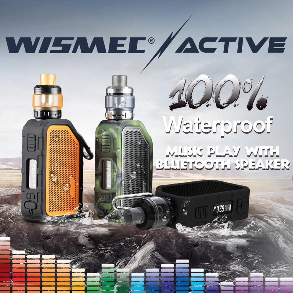 [En STOCK] Wismec Original actif avec Amor NS Plus réservoir 4.5 ml adopte bluebooth étanche mod boîte électronique cigarette vape kit