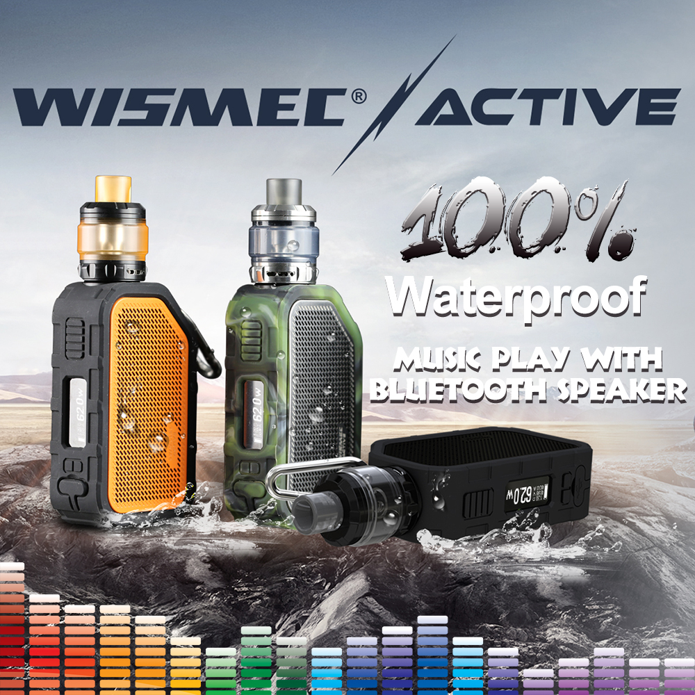 [IN STOCK]Original Wismec Active with Amor NS Plus Tank 4.5ml adopte bluebooth waterproof mod box Electronic cigarette vape kit