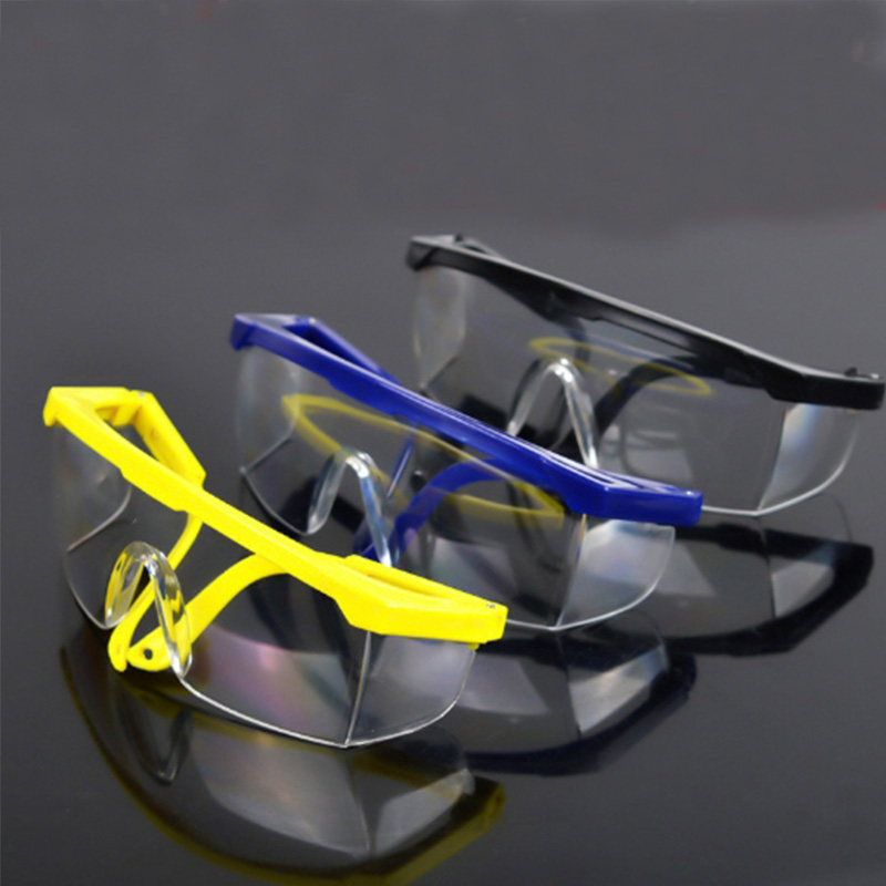 Eyes Protection Windproof Dustproof Resistant Transparent Glasses Protective Working Eyewear Adjustable Frame Safety Goggles