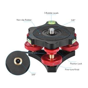 "Image 5 - Andoer LP 64 Camera Tripod Head Leveling Base Tri wheel Precision Leveler w/ Bubble Level 3/8"" Screw Aluminum Alloy Load 15kg"