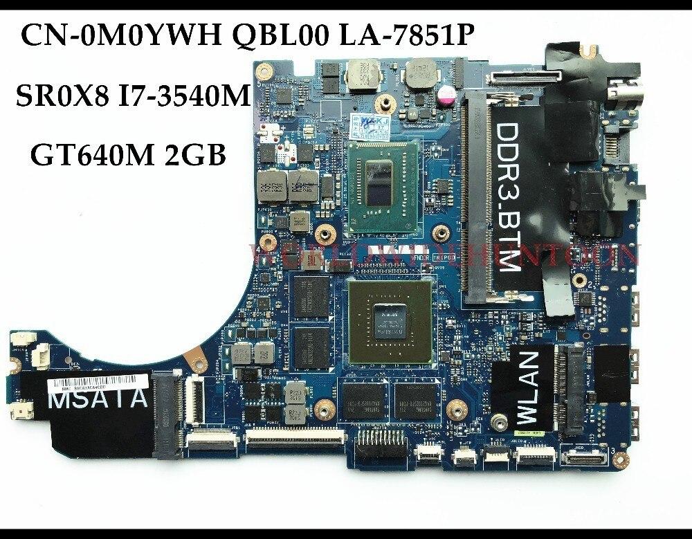 Wholesale QBL00 LA 7851P FOR Dell XPS 15 L521X Laptop Motherboard CN 0M0YWH M0YWH SR0X8 I7