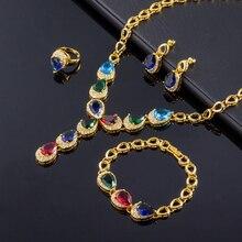 Nueva joyería de la manera, joyería de circón de alta calidad, chapado en oro/Rose sistemas de la joyería al por mayor, envío gratis