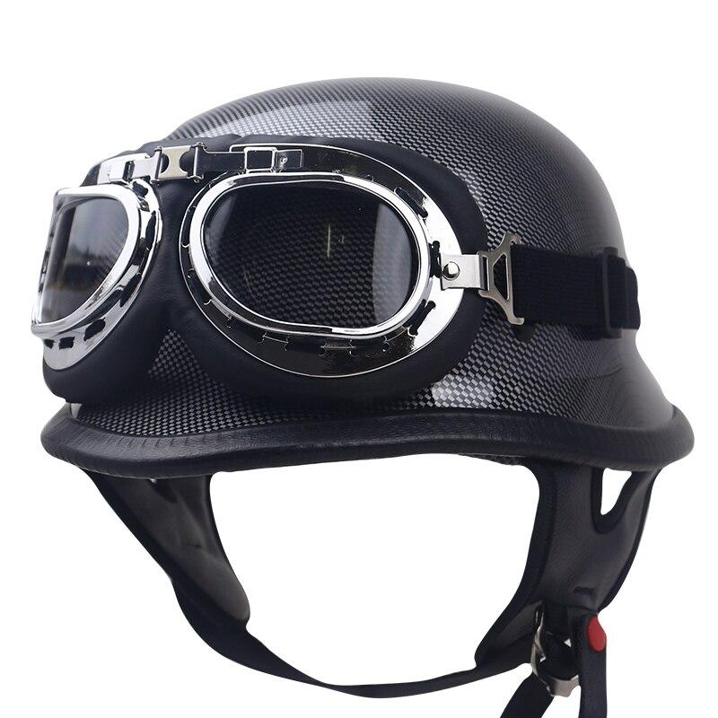 Fou Allemand Style Shorty Casque-DOT Approuvé-Adulte Moto Demi Casque Allemand conception casque Solide et sécurité