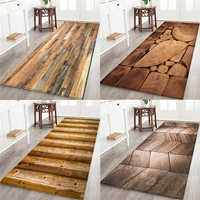 Geometric Wood Grain Kitchen Mat Floor Mat Area Rug Door Mats Entrance Non-Slip Floor Rug For Living Rooms Kitchen Rug Carpet