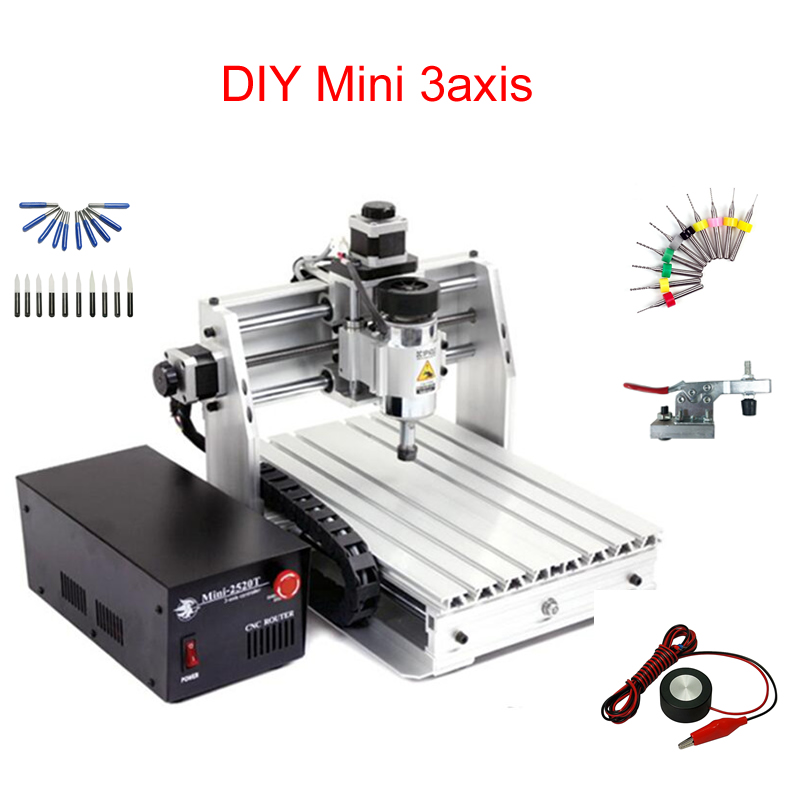 Mini CNC Milling Machine 2520 Cnc Engraving Machine 250*200mm Working Area Cnc Router