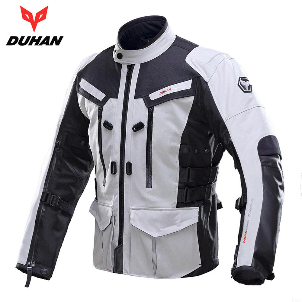 DUHAN Men Motorcycle Jacket Waterproof Cold-proof Moto Jacket Protective Gear Motorbike Motorcycle Clothing for Autumn Winter