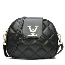 Crossbody Bag Trend Female Personality Shoulder Fashion New Oval Solid Color Small Square Temperament High End Retro